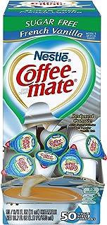 Nestle Coffee Mate Coffee Creamer, Sugar Free French Vanilla, Liquid Creamer Singles, Pack of 50