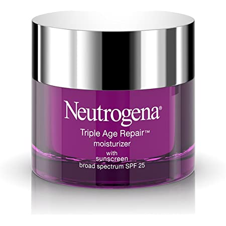 Neutrogena Triple Age Repair Anti-Aging Daily Facial Moisturizer with SPF 25 Sunscreen & Vitamin C, Firming Face & Neck Cream for Dark Spots with Glycerin & Shea Butter, 1.7 Ounce