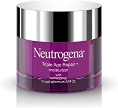 Neutrogena Triple Age Repair Anti-Aging Daily Facial Moisturizer with SPF 25 Sunscreen & Vitamin C, Firming Face & Neck Cr...