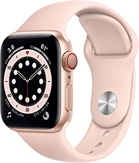 AppleWatch Series 6 (GPS + Cellular, 40mm) - Gold Aluminum Case with Pink Sand Sport Band