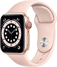 $449 » New AppleWatch Series 6 (GPS + Cellular, 40mm) - Gold Aluminum Case with Pink Sand Sport Band