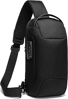 [TSHUO]ショルダーバッグ メンズ 斜めがけ ボディバッグ ワンショルダーバッグ 大容量 防水 盗難防止 USBポート付き iPad収納可能 通勤
