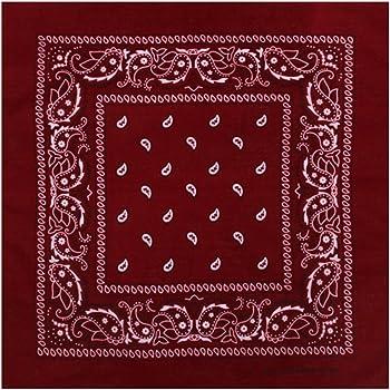 Halstuch Yin Yang rot Baumwolle 100 x 100 cm bedruckt Bandana Kopftuch PORTOFREI