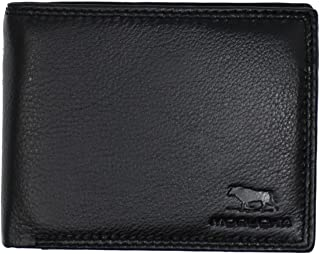 MORUCHA Black Tan Wallet For Mens | Genuine Soft Nappa Leather RFID BLOCKING | Multi Card Capacity Stylish Wallet Purse | Designed For Up To 7 Cards, 3 ID, Coins And Cash | Gift Boxed | M-60