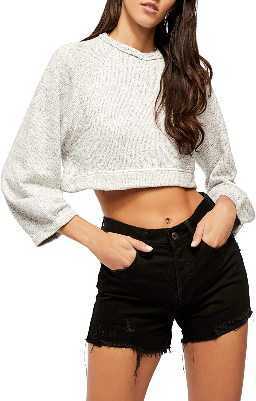 Free People Jade Pullover Sweater Grey XL