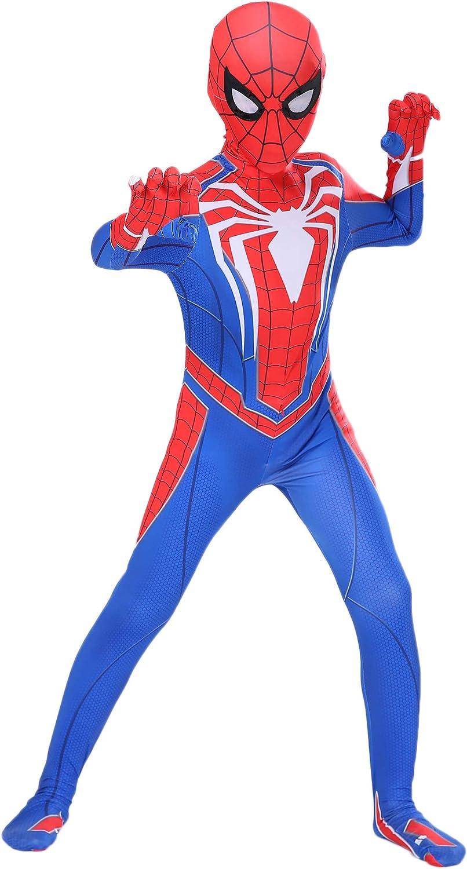 Riekinc Kids Spandex Zentai Bodysuit Superhero Halloween Cosplay Costumes