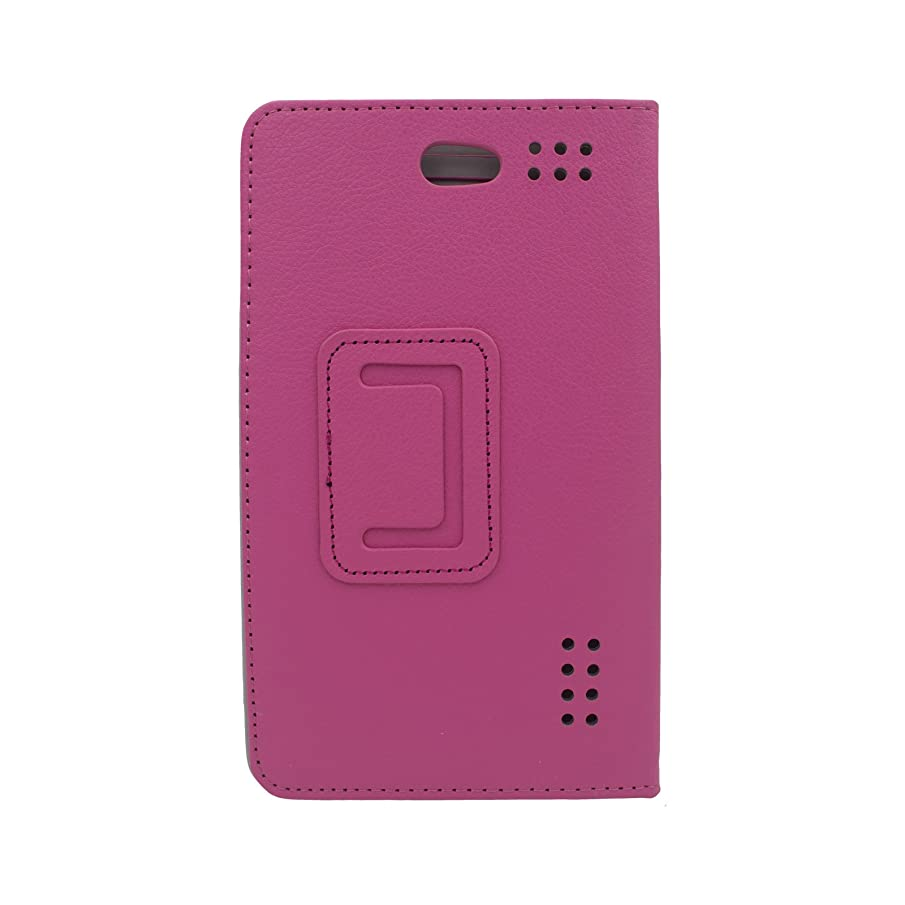 Transwon 7 Inch Phablet Case Compatible with Hoozo 7 Inch Tablet, Wecool 7, Victbing 7, Winsing 7, Yuntab E706, Lectrus 7, AOSON S7+, Tagital Phablet 7, Fusion5 F704B, BLU Touchbook M7 PRO - Magenta
