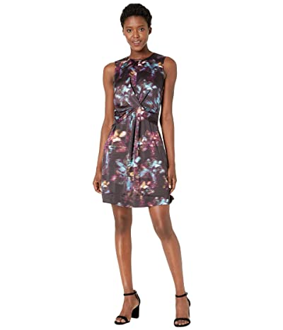 Kenneth Cole New York Drape Front Dress (Retro Floral Multi) Women