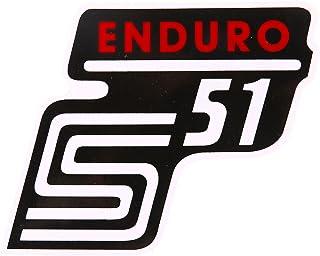 MZA Klebeschriftzug   'S51 Enduro' Rot