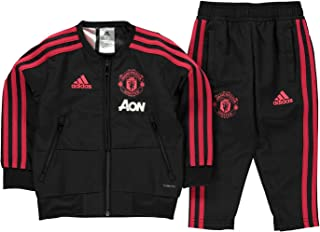 adidas 2018-2019 Man Utd Mini Presentation Tracksuit (Black) - Infants