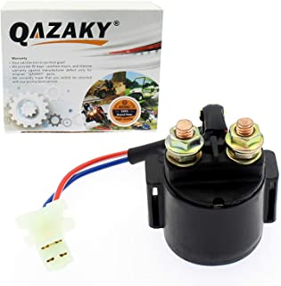 QAZAKY Starter Solenoid Relay Replacement for Yamaha Badger Big Bear Breeze Champ Grizzly Kodiak Radian Moto-4 YFM80 YFM100 YFA YFA1 YFM125 YFM200 YFM225 YFM250 YFM350 YFM400 YFM600 YX600 100 125 350