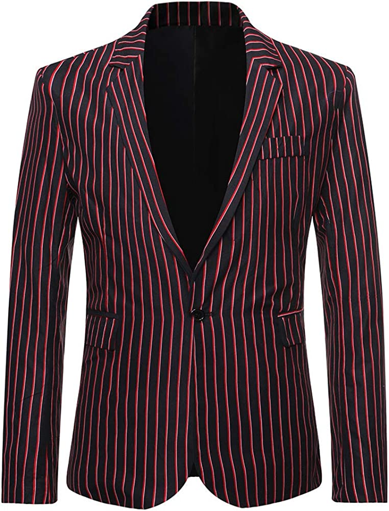 Men's Casual Stripe Suit Blazer Coats Sports Outlet sale feature Max 88% OFF Regular Fit Jackets