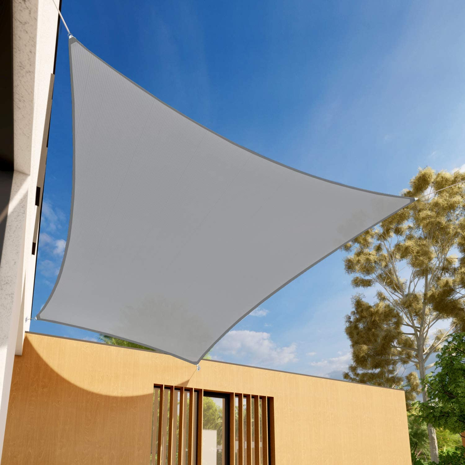 EK Sunrise 10' x 14' Light Outdoo Factory outlet Shade Rectangle Sail Sun Grey Our shop most popular