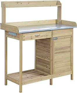 Convenience Concepts G10440N Deluxe Potting Bench with Cabinet