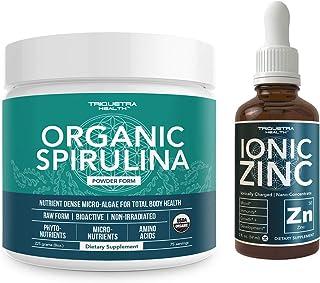 Organic Spirulina Powder Plus Liquid Ionic Zinc
