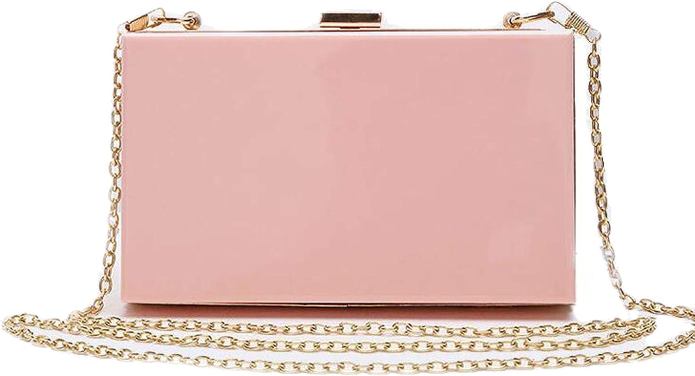 EPLAZA Women Acrylic Clutch Purse Transparent Stars Evening Bags Handbag For Bride Wedding Party Prom