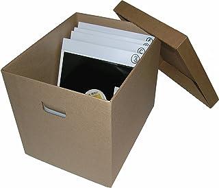 CUIDATUMUSICA Caja DE CARTÓN Solido para Guardar 100-125 Discos DE Vinilo LP/Ref.2032