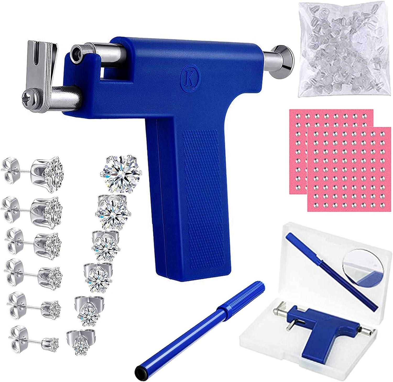 Ear Piercing Gun Kit Nose Pairs 6 Popular With Zirconi lowest price