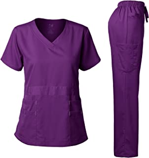 Natural Stretch Premium Women's Scrubs Set Stretch Ultra Soft Top and Pants