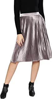 BESIVA Synthetic Pleated Skirt