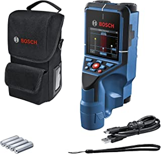 Bosch Professional Wall Scanner D-tect 200 C (detection of (non-) live cables, metal, plastic pipes, wooden studs and cavi...