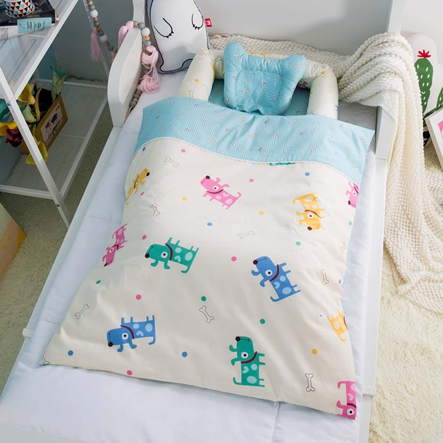 Cotton Detachable Baby Nest,Quilt and Pillow for 0-24 Months Baby (Rabbit), 3