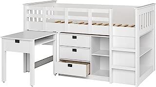 CorLiving BMG-310-B Madison Loft Bed, Single/Twin, Snow White