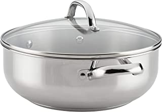 Farberware 70152 Buena Cocina Stainless Steel Dish/Casserole Pan with Lid, 6 Quart, Silver
