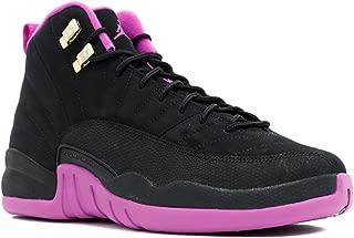 Jordan Air 12 Retro GG Big Kid's Shoes Black/Metallic Gold/Violet 510815-018