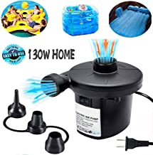 Electric Air Pump for Inflatables, ONG NAMO Portable Quick Air Pump with 3 Nozzles for Air Mattresses Beds Boats Swimming Ring Inflatable Pool Toys 110V AC (130W)