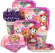 Costume SuperCenter BirthdayExpress Paw Patrol Pink Party Tableware Pack for 8 Guests, Multi-colored, One Size