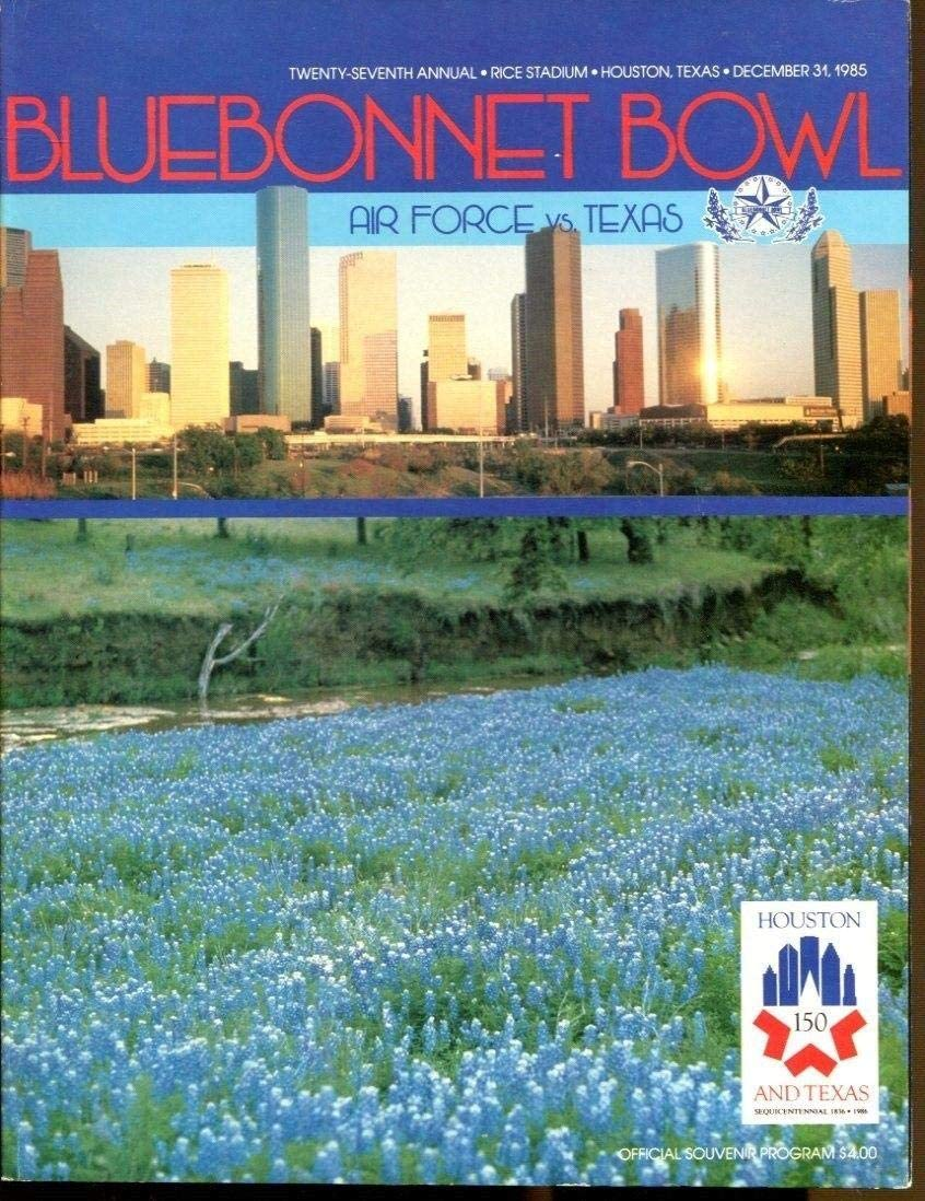 1985 Bluebonnet Some reservation Bowl Program Texas Longhorns 12 Air Force 67% OFF of fixed price 31 4 v