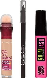 Maybelline New York NY Minute Makeup Kit Bright & Bold Makeup Kit, Mascara + Instant Age Rewind Concealer Makeup Set