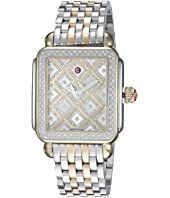 Michele - Deco Two-Tone Diamond Grid Diamond Watch