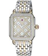 Michele - Deco Two-Tone Diamond Grid Diamond Watch