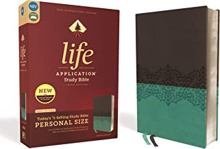 NIV, Life Application Study Bible, Third Edition, Personal Size, Leathersoft, Gray/Teal, Red Letter Edition