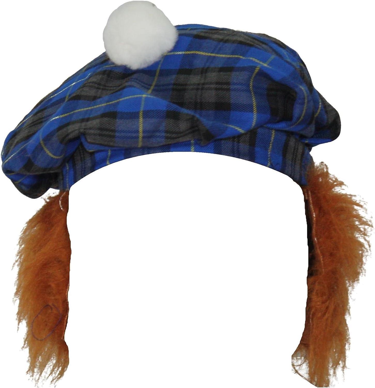 The Dragons Den Duckegg Balmoral Tartan Tam O Shanter With Ginger Hair Scottish Highland Hat