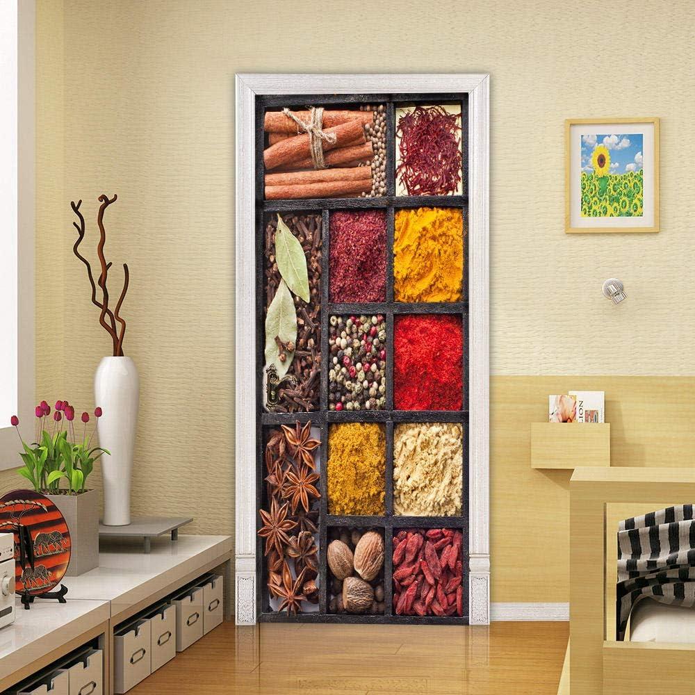 DIY Door Sticker Spices Children I Bedroom Kids Free Shipping Cheap Bargain Gift Bathroom wholesale Kitchen