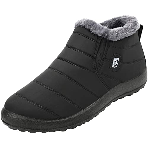 5bdeb217cd73 JOINFREE Women s Winter Snow Flat Ankle Boots Womens Mid-Calf Zip  Waterproof Outdoor Walking Warm