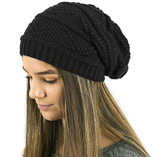 552b65290fb TOSKATOK Ladies Knit Slouch Winter Hat Beanie