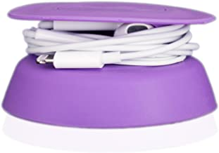Budley – Tangle-Free Earphone/Earbud Case, Compact Storage System, Silicone (Purple, Set of 1)