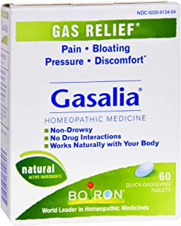 Boiron Gasalia - Gas Relief - Homeopathic - all Natural - 60 Tablets