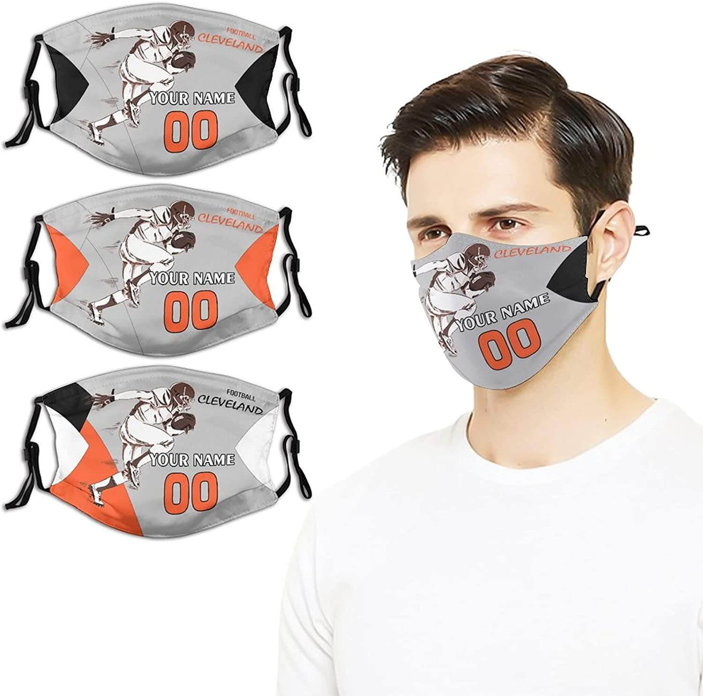 Custom Football Max 85% OFF Under blast sales Face Cover Bandana Adjustable with Fan Mask