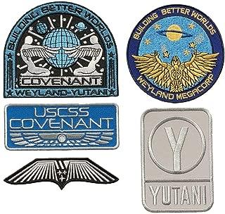 Alien Movie USCSS Covenant Weyland Yutani Patch (5PC Bundle - Iron on Sew on)