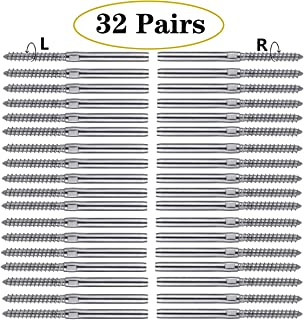Zonegrace Swage Lag Screws Left & Right 64 Pack for 1/8