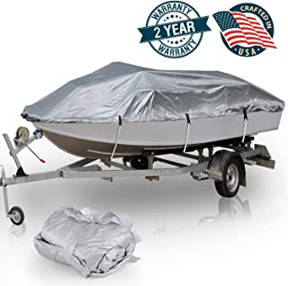 Pyle Unisex Adult Boat Protection Storage Armor Cover - 14'-16'L to 75† Beam Width Universal Waterproof,  Mildew and Weather Resistant Polyester Fabric PCVTB111,  14-16-Feet x 75-Inch