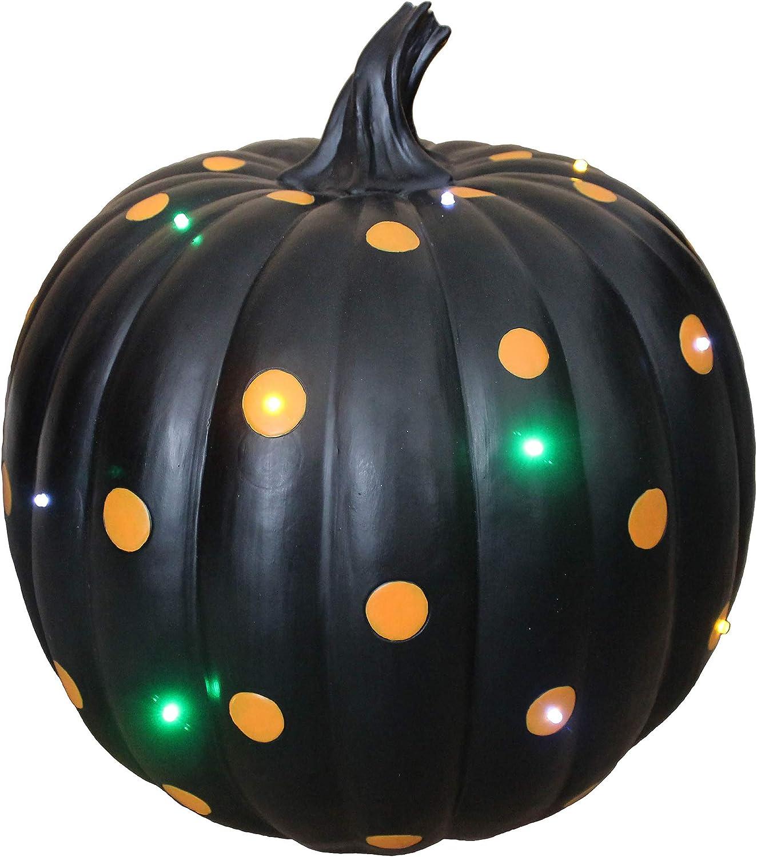 Haunted 1 year warranty Under blast sales Hill Farm FFRS036-PMP1-BLK1 Black Dot Polka with Orange