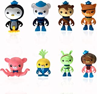 8PCS Mini Octonauts Cake Toppers Octonauts Figures Birthday Cake Topper Cupcake Topper Octonauts Cake Decoration for Kids ...