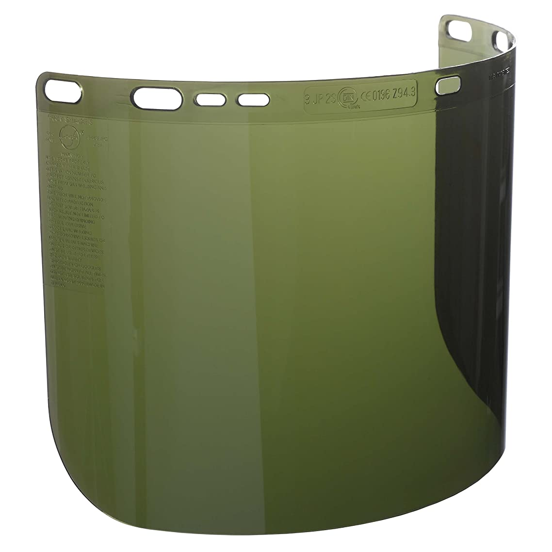 """Jackson Safety F50 Specialty High Impact Face Shield (26262), Polycarbonate, 8"""" x 15.5"""" x 0.06"""", IRUV 3.0, Face Protection, Unbound, 12 Shields / Case"""