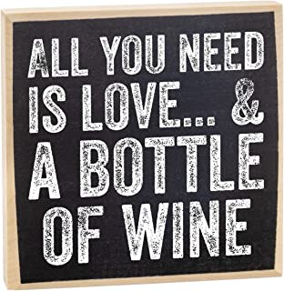 Make Em Laugh All You Need is Love and a Bottle of Wine Wooden Sign
